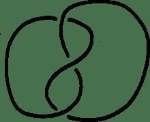 a trefoil knot